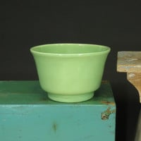 Haeger USA Pottery Planter Lime Green Ceramic Pot #3833