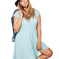Frosted Blue Boucle Skater Dress | Wet Seal+