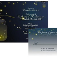 Mason Jar Fireflies Wedding Invitat.. on Luulla