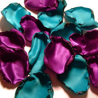 Mixture of Aqua Blue and Purple flower petals, Mix of Teal and purple rose petals, flower girl petals, baby shower and bridal shower decor