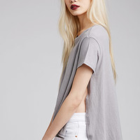 High-Slit Dolphin Hem Top