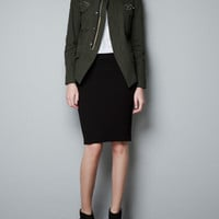 MILITARY JACKET WITH DIAMANTE POCKETS