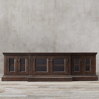 Salvaged Wood Glass Media Console