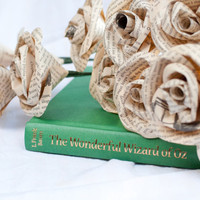 One Dozen Vintage Wizard of Oz Book Page Roses