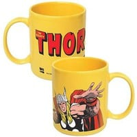 Thor Marvel Yellow Coffee Mug - Icup - Thor - Mugs at Entertainment Earth