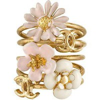 Chanel Flower Stackable Rings | Chanel Accessories from Bag Borrow or Steal?