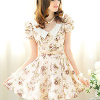Hollywood Glamour Luxury Floral Print Ruched Jersey Dress Sweet Stunner Pretty