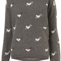 Knitted Heart Arrows Jumper - Sweaters - Knitwear  - Apparel