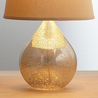 Martina Aged Mirror Table Lamp Base | Lighting| Home Decor | World Market