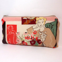 Medium Zipper Pouch Cosmetic Bag Pencil Case Matisse Woman