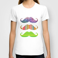 Of course mustaches:{{{ T-shirt by Li9z | Society6