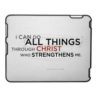 Philippians 4:13 II iPad Cover from Zazzle.com