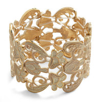 Couldn&#x27;t Filigree More Bracelet in Ivory | Mod Retro Vintage Bracelets | ModCloth.com