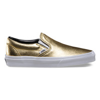 Metallic Leather Slip-On | Shop Classic Shoes at Vans