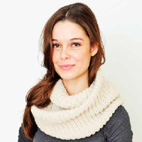 Knit Infinity Scarf by KnitPopShop - Default Title / Oatmeal