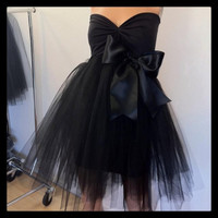 Black Tutu Black Tie Cocktail Dress custom order or in stock
