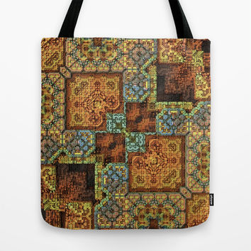 Patchwork Pattern Tote Bag by Lyle Hatch | Society6.com