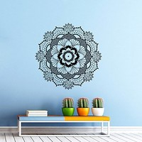 Wall Decals Mandala Ornament Indian Geometric Moroccan Pattern Namaste Flower Om Yoga Wall Vinyl Decal Stickers Bedroom Murals