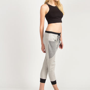 Quilted Pocket Sporty Joggers - Gray /