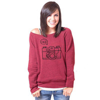 Click Camera Bella Slouchy Wideneck Sweater