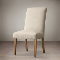 Hudson Roll-Back Upholstered Side Chair