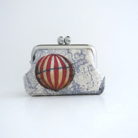 Frame Coin Purse- mini  jewelry case with ring pillow- air balloon