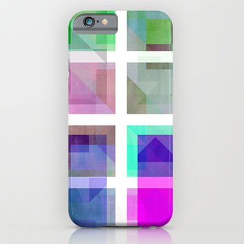 January Cubes iPhone & iPod Case by SensualPatterns