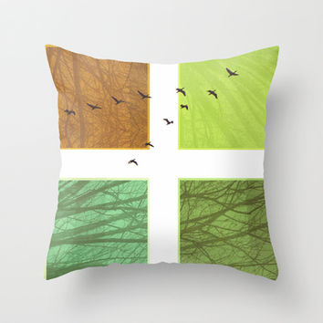 Fly away Throw Pillow by SensualPatterns