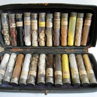 Stunning 1880 Doctors Leather Medicine Case