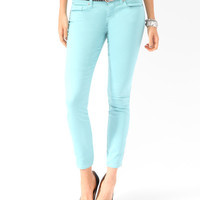 Zippered Denim Ankle Skinnies
