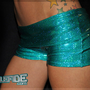 Teal Sparkly Micro Shorts