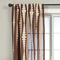Chocolate Nubia Stripe Curtain | Window Treatments| Home Decor | World Market