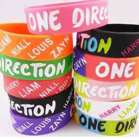 11 PCS Colors ONE DIRECTION 1D BRACELET SILICONE WRISTBAND HOT