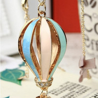 Colorful hot air balloon beautiful necklace pendant jewelry Necklace Prom necklace