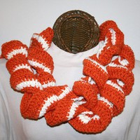 Ruffled Scarf Orange Beige Team Spirit