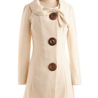 Amber Road Coat in Cream | Mod Retro Vintage Coats | ModCloth.com