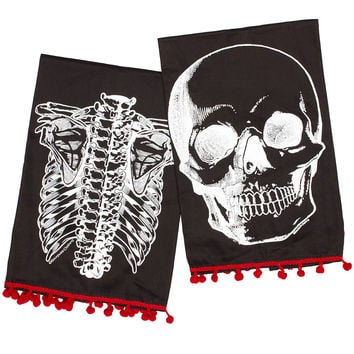 X-Ray Skeleton Tea Towel Set of 2