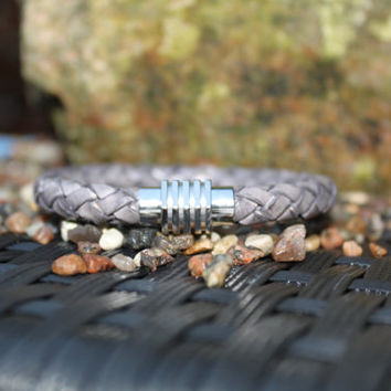Cool mens bracelet, handmade, leather supplies