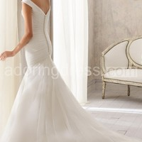 Fit and Flare Tasteful Wedding Gown Classic Off the Shoulder Sleeves Timeless
