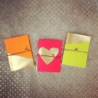 Gold & Neon Journal, Mini Notebook, Sketchbook
