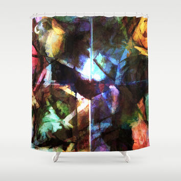 Revision of my blurred memories Shower Curtain by Barruf Designs
