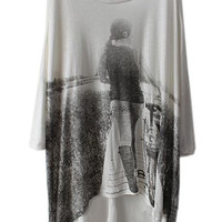 ROMWE | Scoop Neck Oversized T-shirt, The Latest Street Fashion