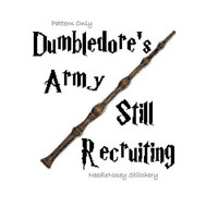 Harry Potter Cross Stitch Pattern, Dumbledore's Army, Elder Wand  PATTERN ONLY