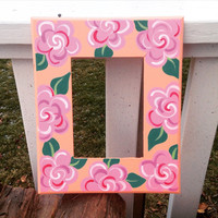 Floral Painted Picture Frame