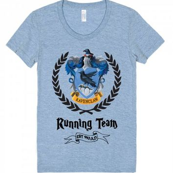 Ravenclaw Running Team-Unisex Athletic Blue T-Shirt