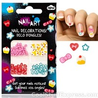 Nail Art Manicure Decals With Hearts Bows Cupcakes Stars, Fun & Unique Gifts , Fun & Unique Gifts