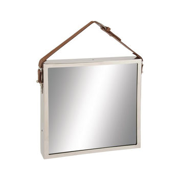 Strapping Leather Mirror