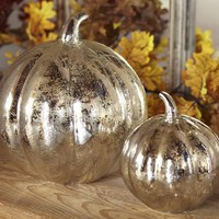 Antique Mercury Glass Pumpkins