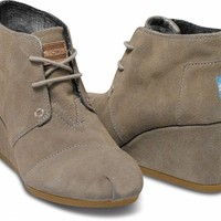 Taupe Suede Women&#x27;s Desert Wedges