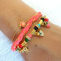 Ethnic bracelet sets, authentic turkish jewelry, arabic, afghan, istanbul, oriental accessories, mother jewelry, best friend birthday,